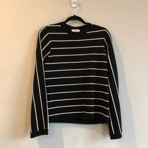 &other stories black and white stripe wool sweater
